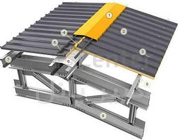 استفاده از ساندویچ پانل سقفی ماموت