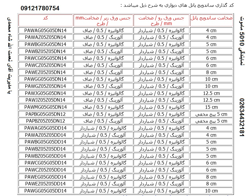 ساندویچ پانل تبریز | سقف ساندویچ پانل قیمت - ساندویچ پانل تبریز